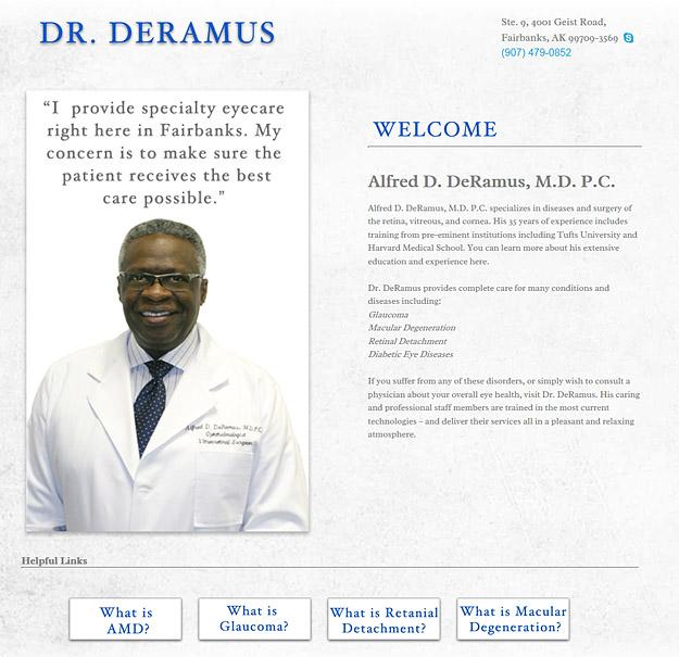 Dr. Alfred D. DeRamus Website